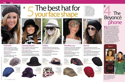Best Hats For The Shape Of Your Face Face Shapes Different Face Shapes Hat Fashion