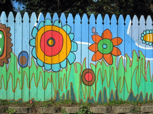 Ann Abor Painted Fence By Green Rd AnnArbor Beautiful Whimsy And Creativity