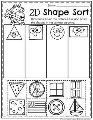 Shapes Worksheets | Shapes worksheet kindergarten, Shapes ...