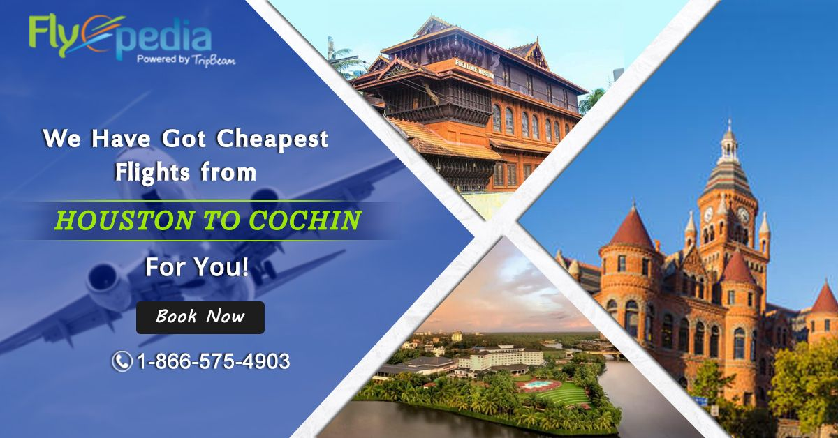 Book Flight Tickets from USA to Cochin Book flight