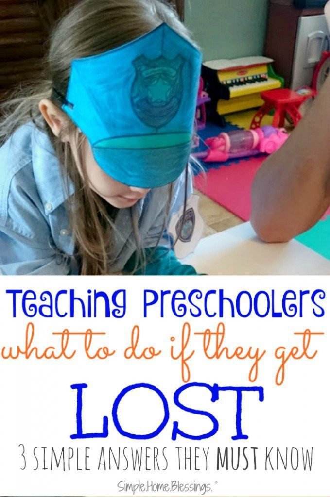 Teaching Kids What to Do when they are LOST Preschool