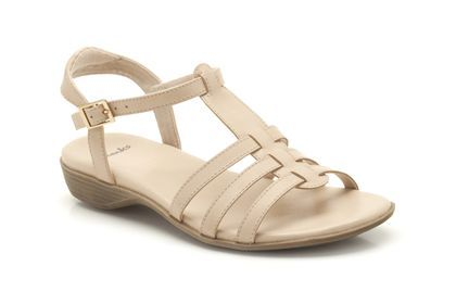 038aee354cfd Womens Casual Sandals - Region Line in Nude Leather from Clarks shoes