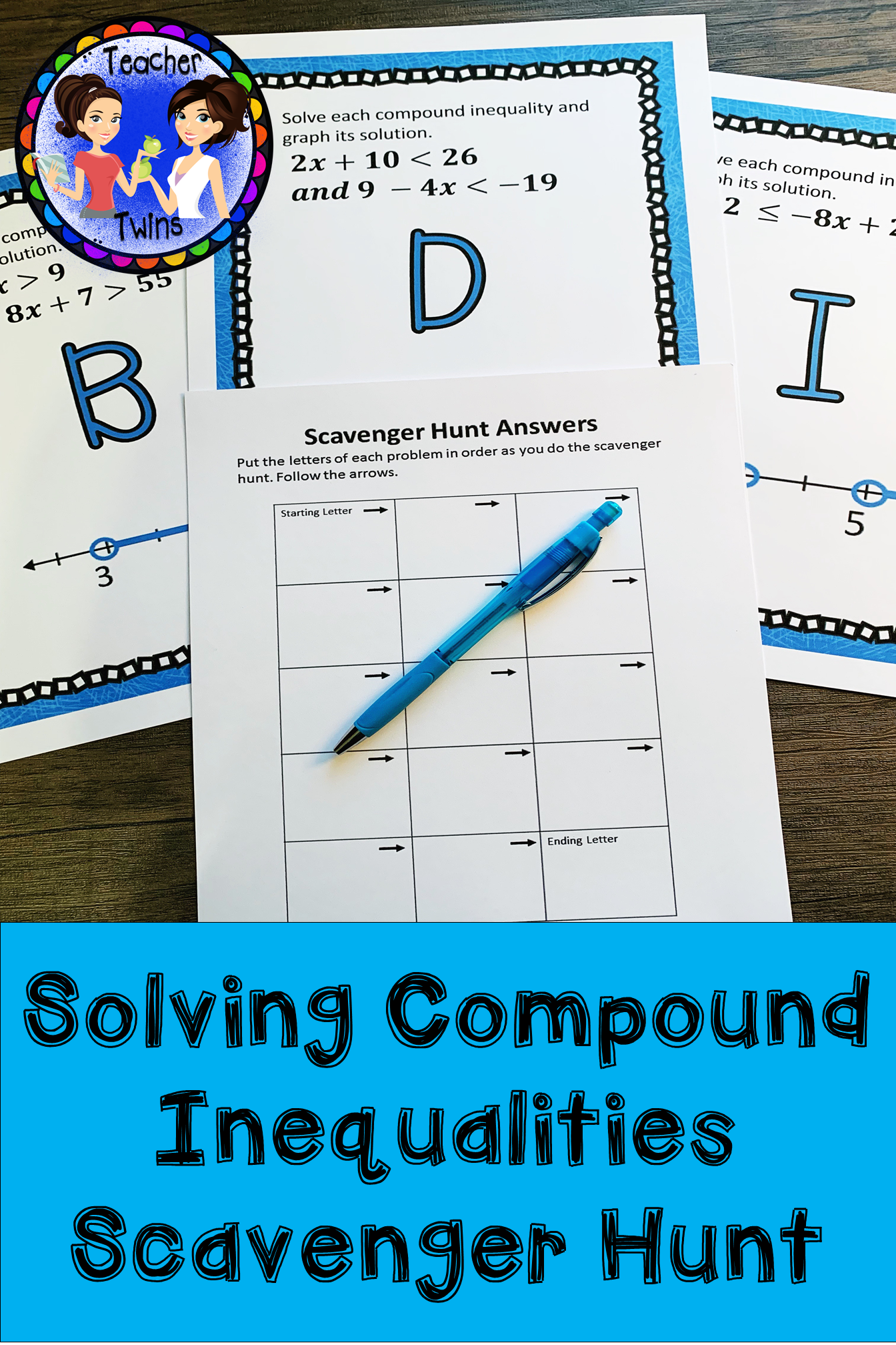 Compound Inequalities Scavenger Hunt