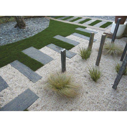 traverse droite ardoise gris h 3 x l 75 cm jardin pinterest ardoise droit et gris. Black Bedroom Furniture Sets. Home Design Ideas