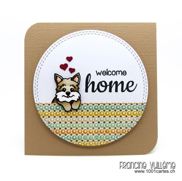 1001 cartes: Sunny Studio – Welcome Home Card by Francine Vuilleme ...