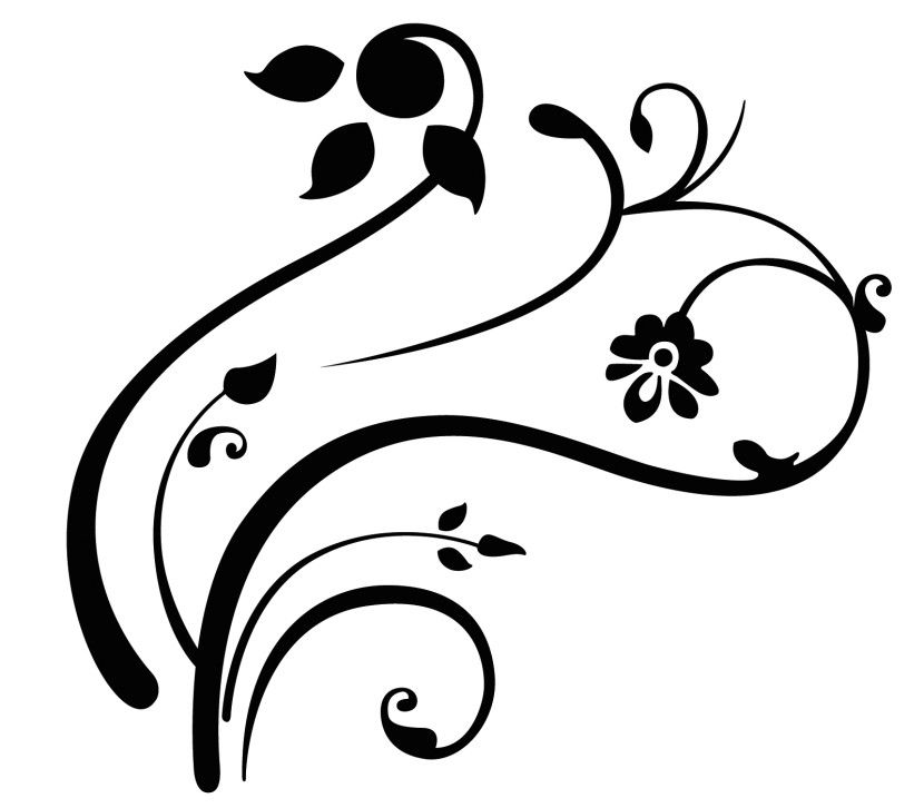 Simple Corner Swirls Free Clipart Images | Places to Visit ...