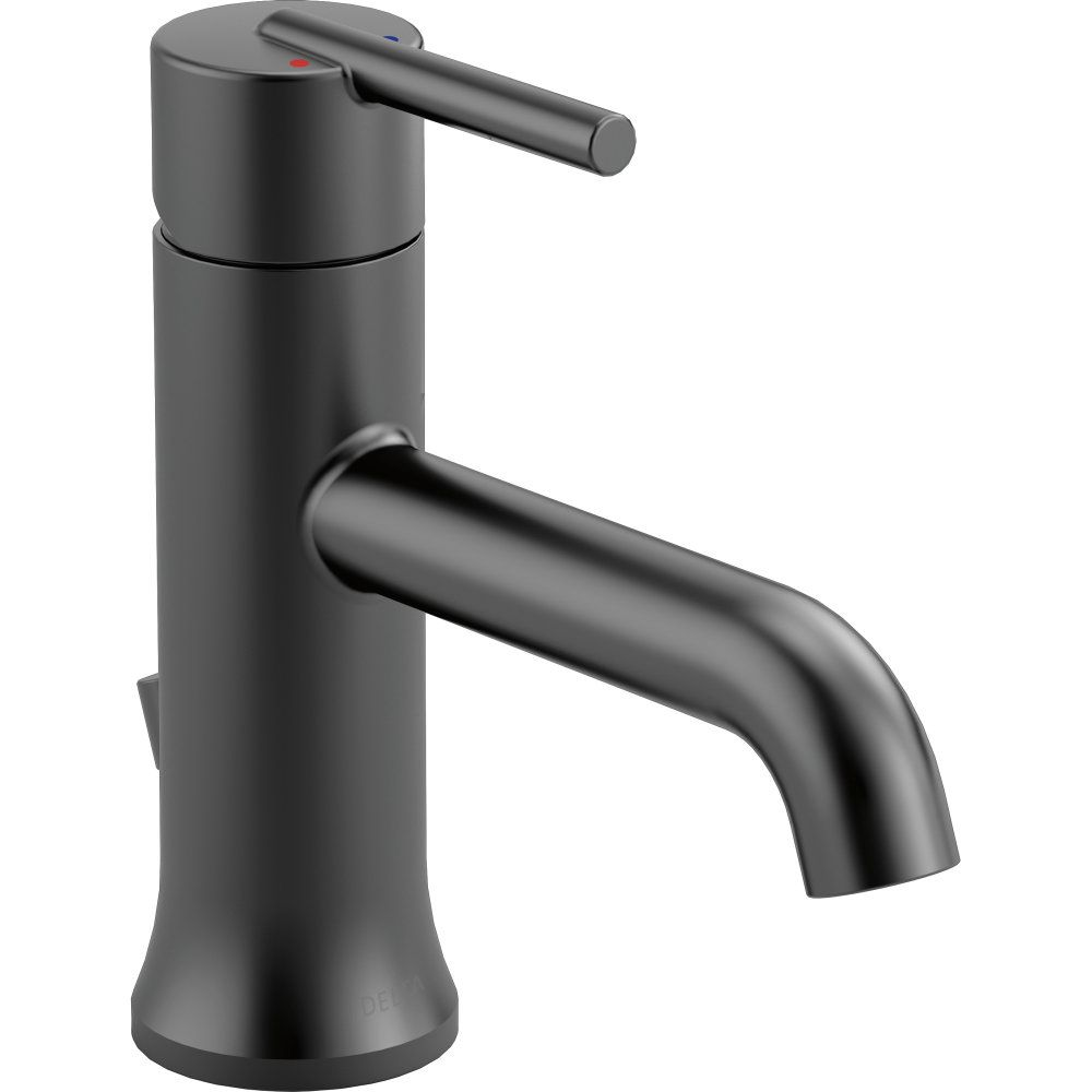 Delta Faucet 559LF BLMPU Trinsic Matte Black One Handle Bathroom Faucets |  EFaucets.com