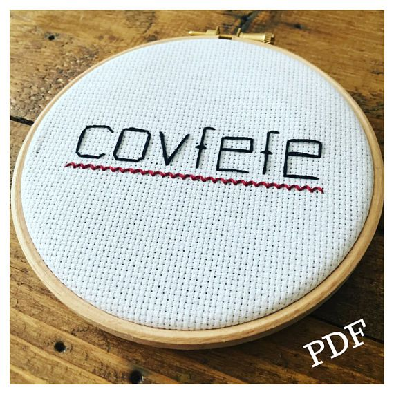 Covfefe What Does It Mean If Only President Trump Had Used Spell Check Maybe This Internet M Cross Stitch Diy Cross Stitch Subversive Cross Stitch Patterns
