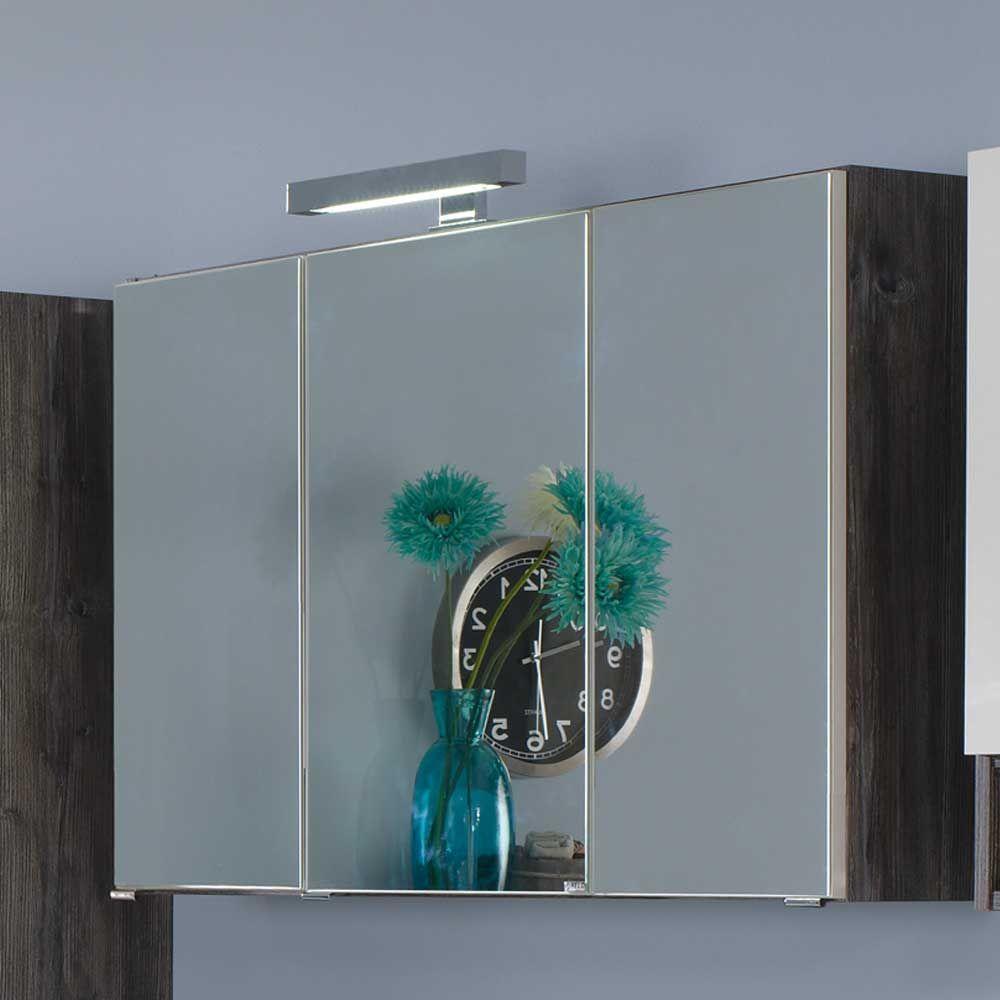 spiegelschrank mit 3d effekt led beleuchtung jetzt bestellen unter. Black Bedroom Furniture Sets. Home Design Ideas