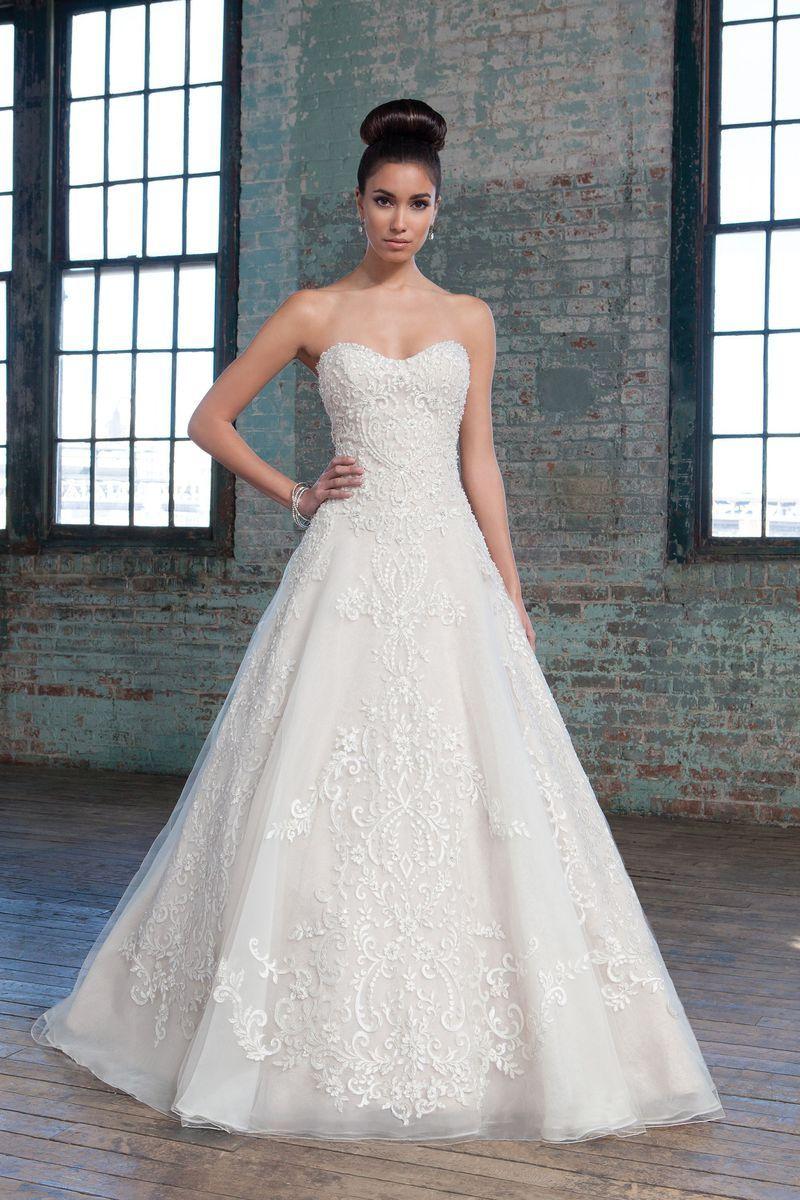 Metallic wedding dress  Justin Alexander signature wedding dresses style   Wedding