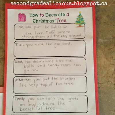 How To Decorate A Christmas Tree - A Procedural Writing Craftivity