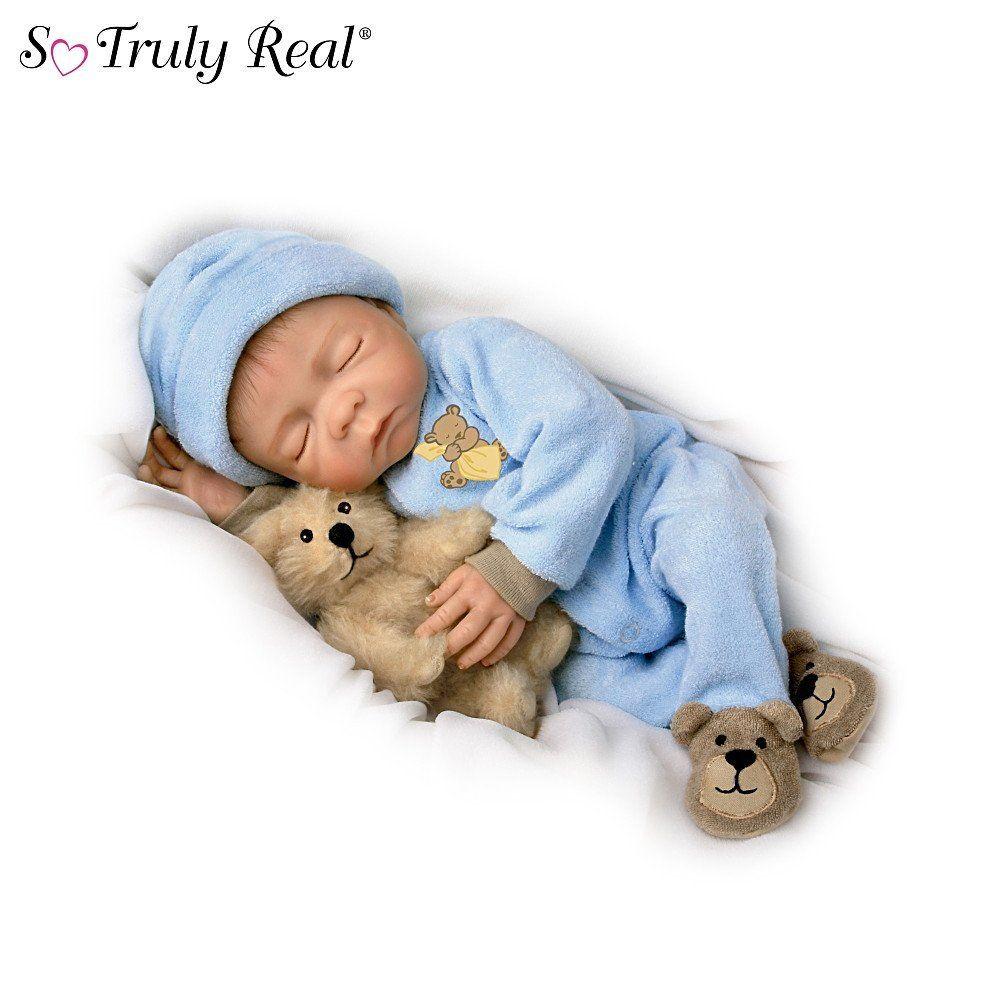 Sweet Dreams Baby Jacob So Truly Real 18 Inch Realistic Lifelike Baby Boy Doll By Ashton Drake Newborn Baby Dolls Farmer Baby Realistic Baby Dolls