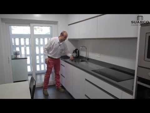 Video Cocina Moderna Blanca Sin Tiradores Decoracion De Cocina Moderna Cocinas Modernas Decoracion De Cocina
