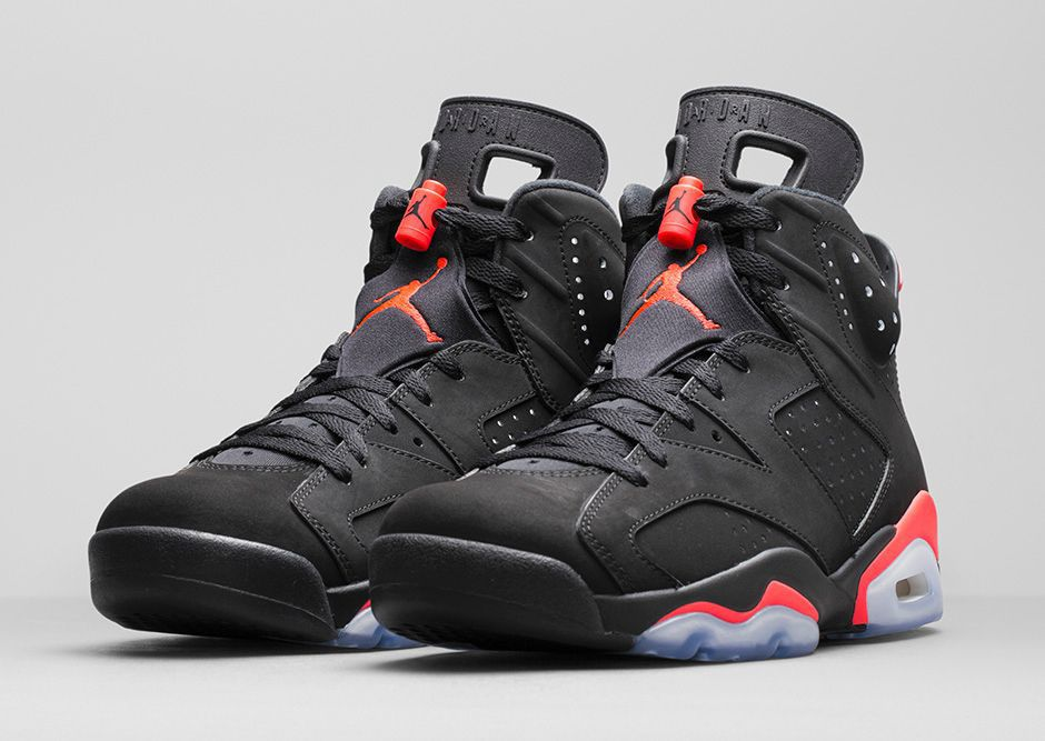 nike air jordan 6 black infrared for sale
