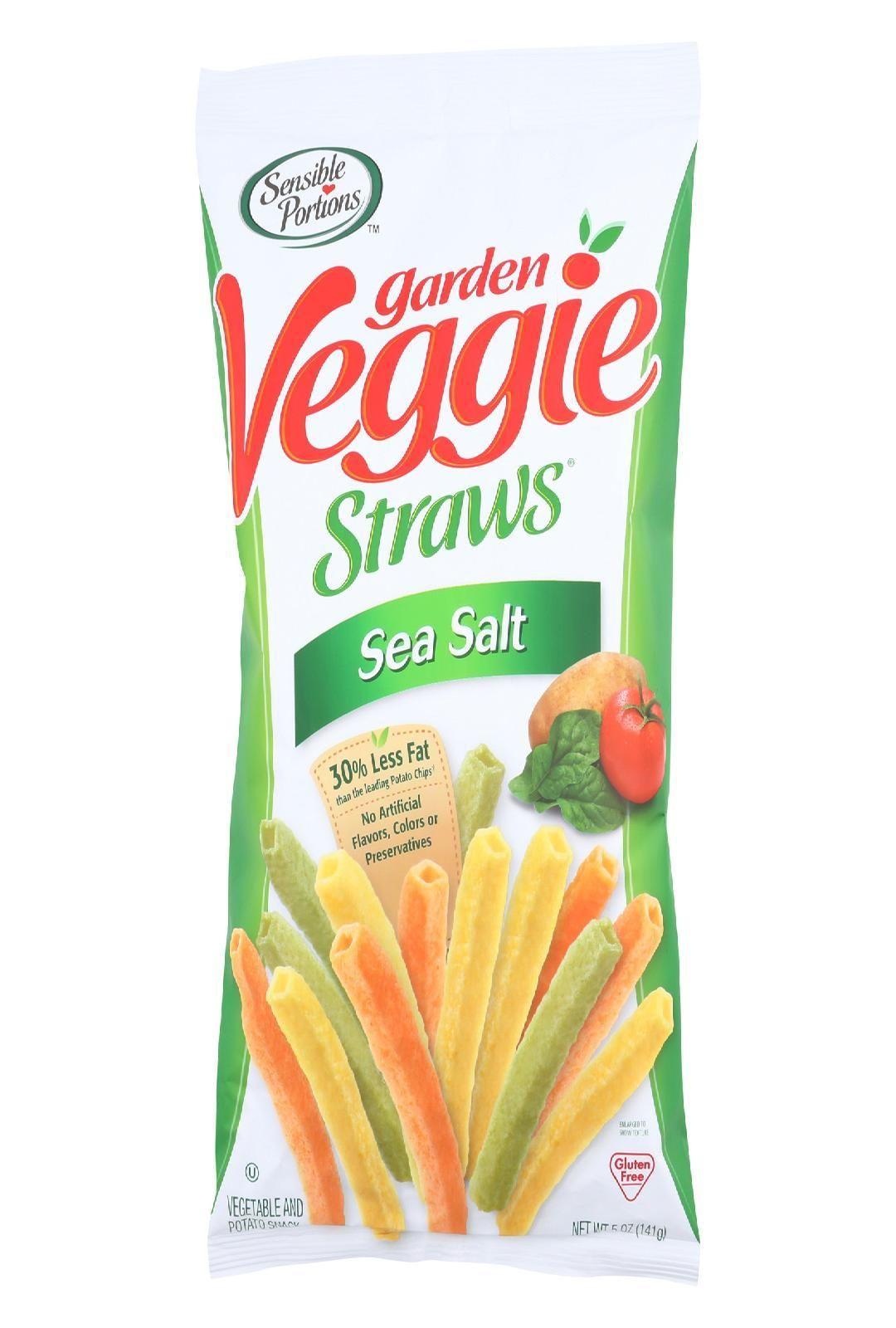 Sensible Portions Garden Veggie Straws Sea Salt Case Of 12 5