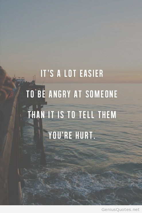 Its A Lot Easier To Be Angry On Someone Quote Feelings Quotes