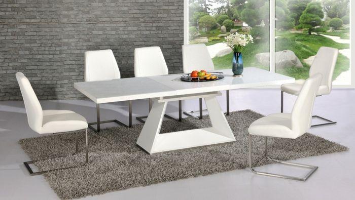 Ausziehbarer Esstisch aus Glas, Holz oder Kunststoff | ausziehbarer ...