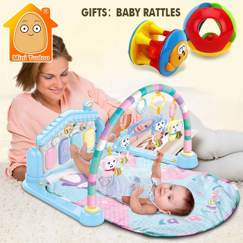 71dff480c278c MiniTudou Baby Activity Play Mat Baby Gym Educational Fitness Frame  Multi-bracket Baby Toys Months Game Mats For Kids