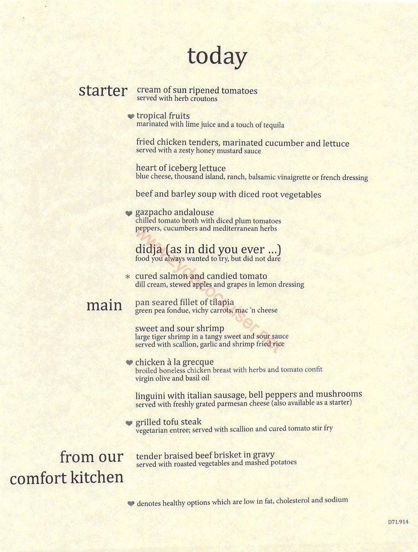 Carnival Cruise 7 Day Mdr Dinner Menus Food Pictures  Carnival Amusing Carnival Cruise Dining Room Menu Decorating Inspiration