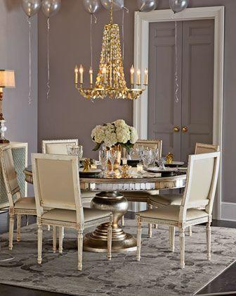 5qpw John Richard Collection Lisandra Round Dining Table Melissa