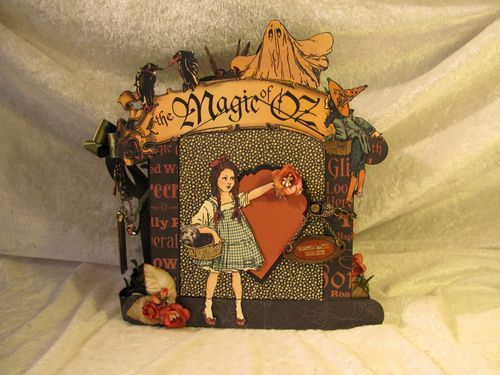 Another amazing mini by @Anne Rostad using our Magic of Oz paper. Incredible! Click to see the inside pages. #graphic45