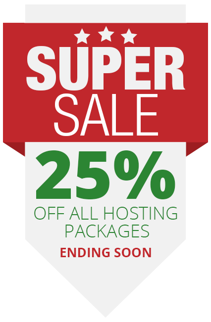 25 Percent Off All Hosting Packages
