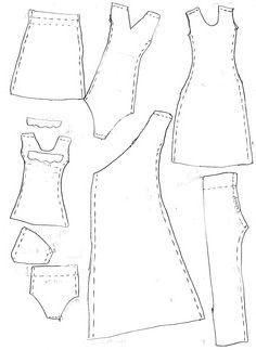 Выкройки платьев для кукол барби своими руками