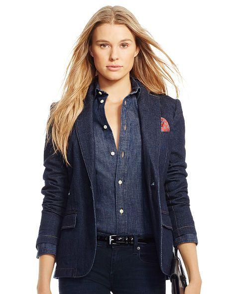 Denim Single-Button Jacket - Polo Ralph Lauren Jackets - RalphLauren.com