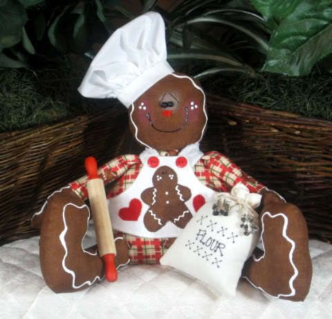 Primitive Gingerbread Baker Shelf Sitter PATTERN #218