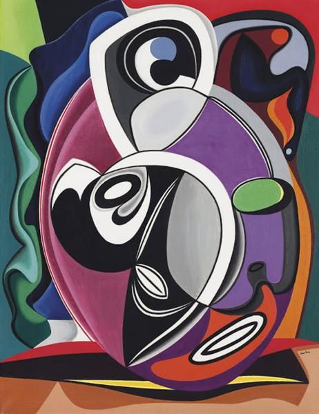 Untitled // Auguste Herbin -  Completion Date: 1931 -  Style: Abstract Art -  Genre: abstract painting
