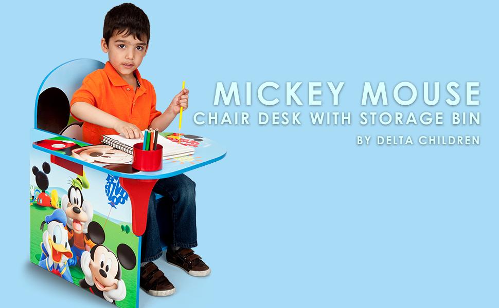 Astonishing Amazon Com Disney Chair Desk With Storage Bin Mickey Mouse Creativecarmelina Interior Chair Design Creativecarmelinacom
