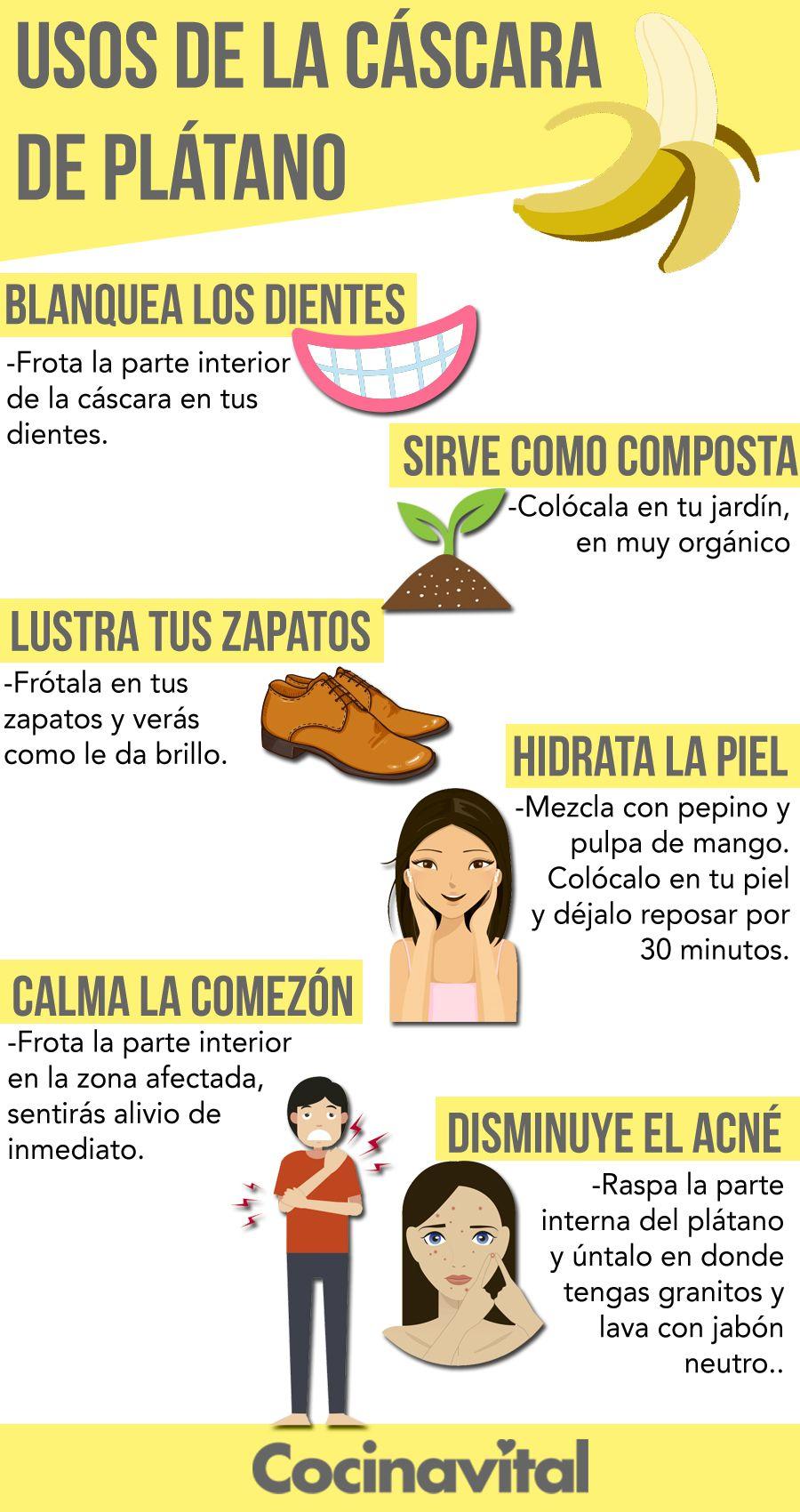 propiedades de la cascara de platano en la piel