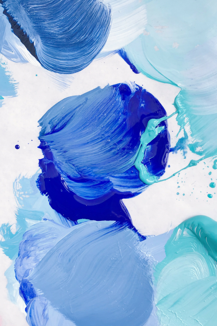Palette Screen Savers For My Friends Blue Abstract Painting