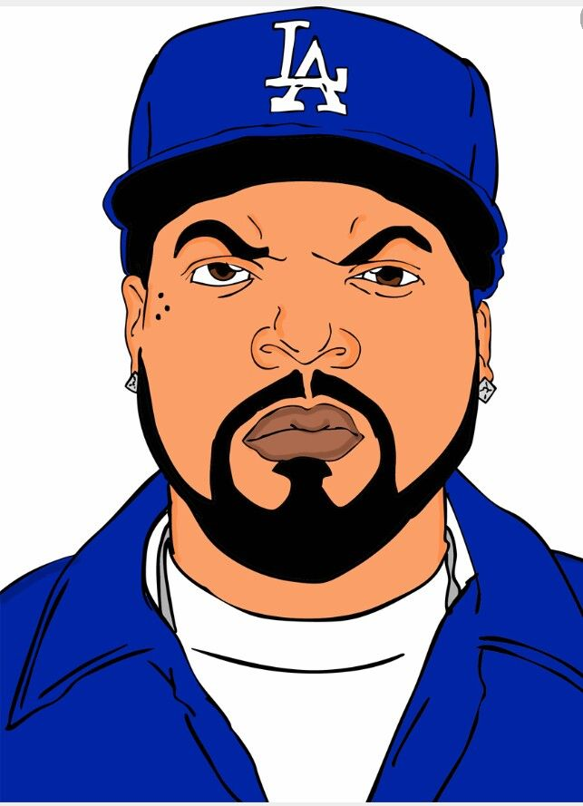 "Ice Cube drawing | Rappers ""I"" like 