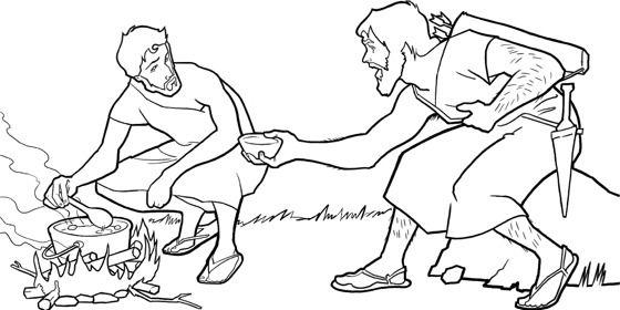 Jacob, Esau, and the Stew | Pinterest