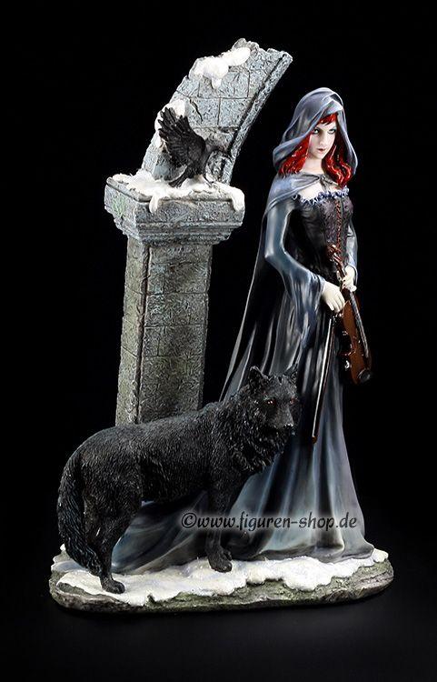 Jolandra and a wolf.