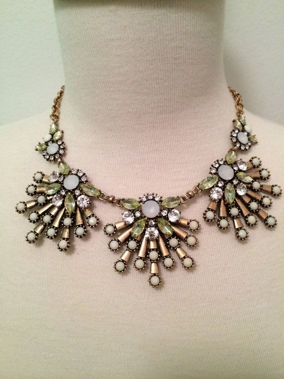 White Firecracker Statement Necklace by BellaHarperBoutique