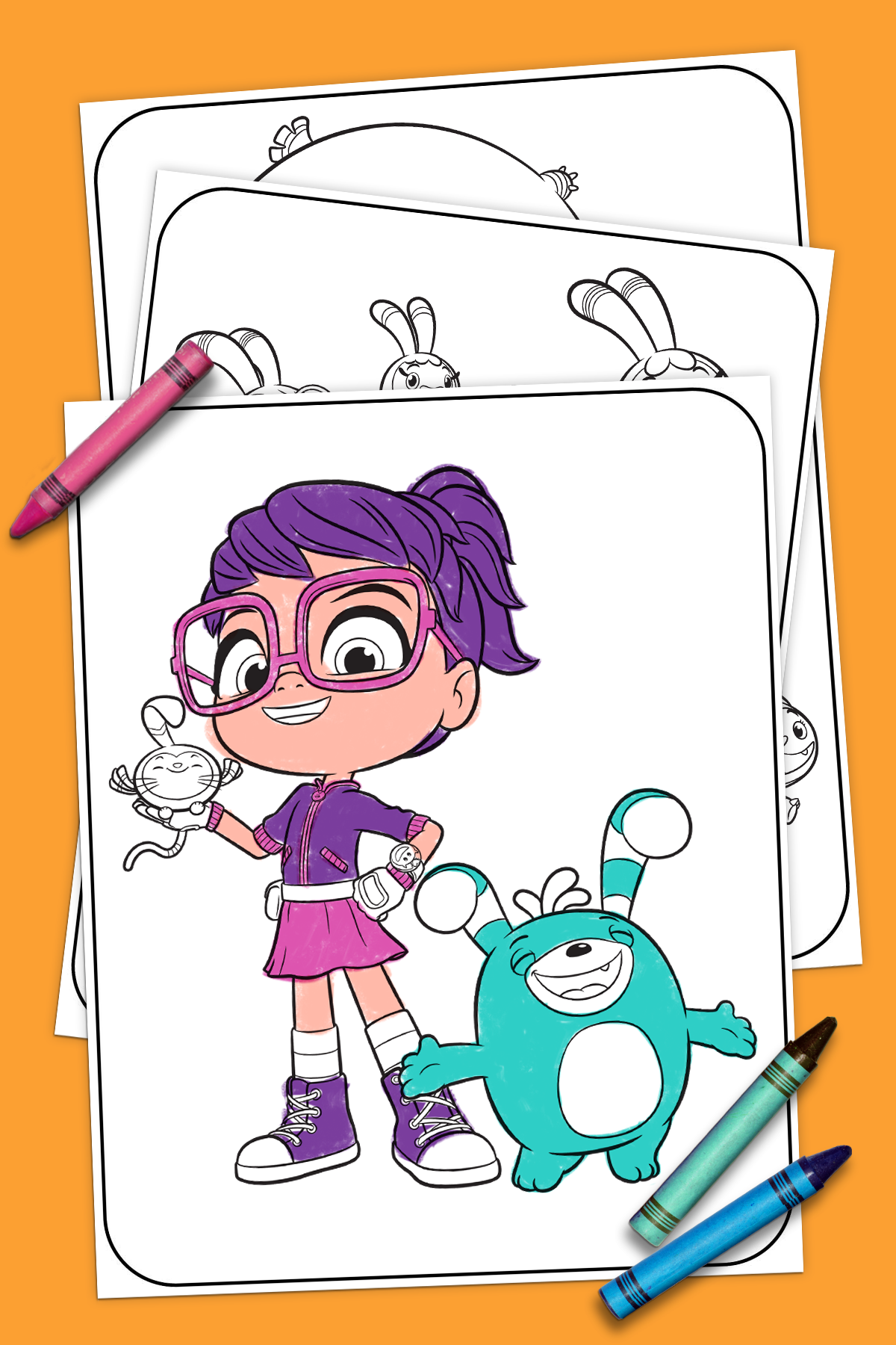 Abby Hatcher Coloring Pages In