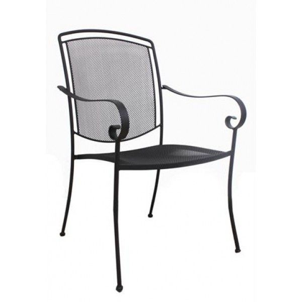 Our Henley Arm Chair Features A Titanium Iron Gray Finish With Black Feet  And A Mesh Seat And Back. The Electrotherm Protective Finish Resists  Scratching, ...