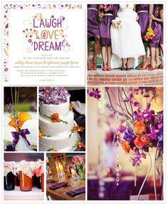 Orange and Purple Wedding Inspiration Board | Future wedding ...