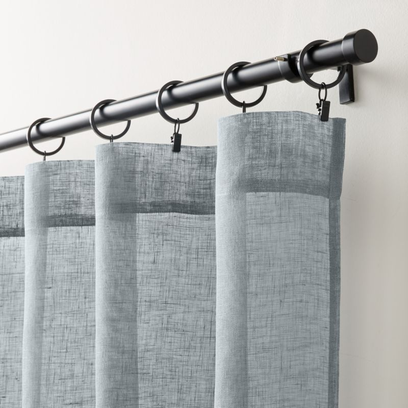 Linen Sheer Lead Curtain Panel Crate And Barrel Led Curtain