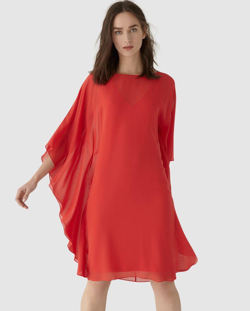 1842feda97 Vestido de mujer Georges Rech rojo de muselina