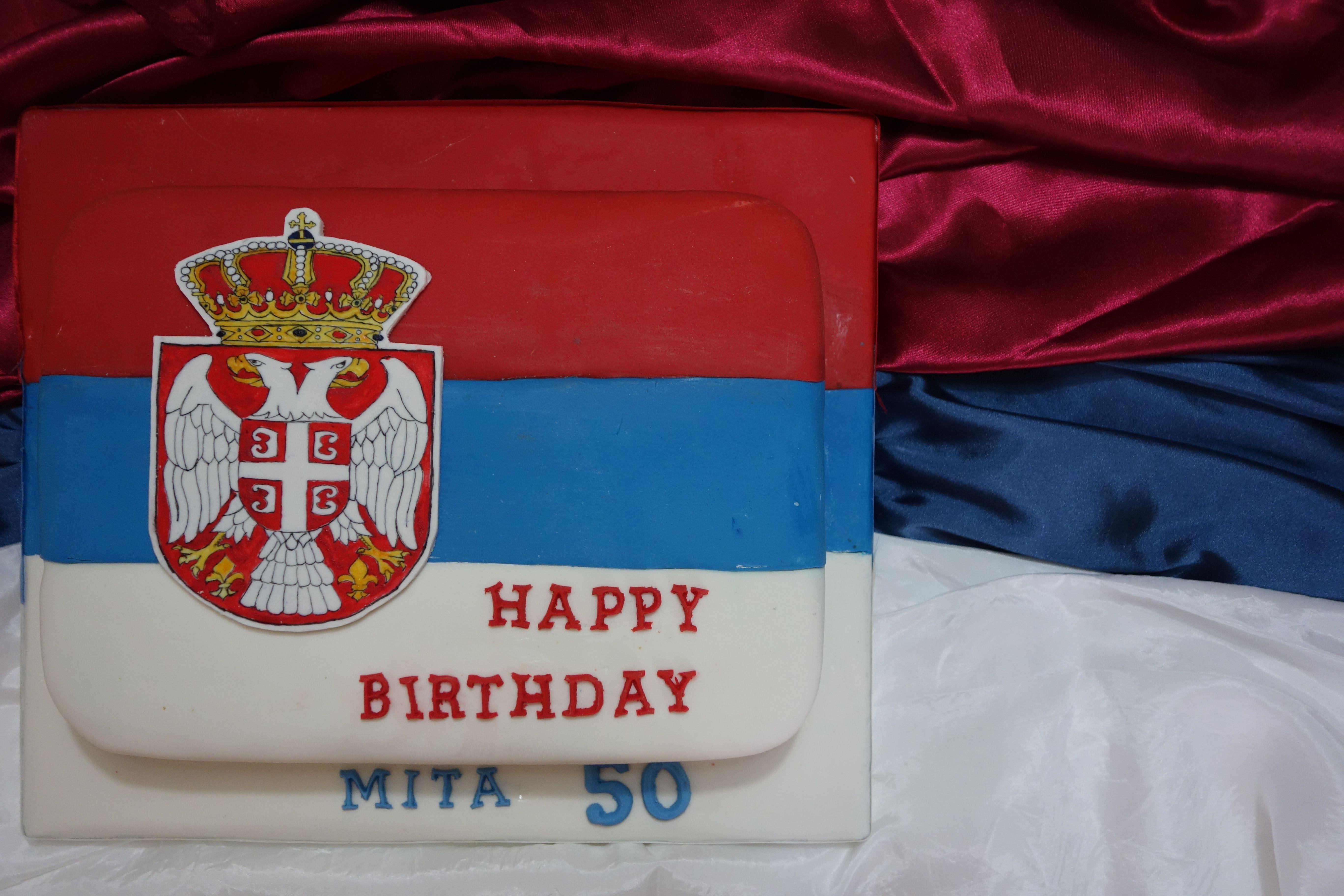dc530ab1a00 The Serbian Flag Cake