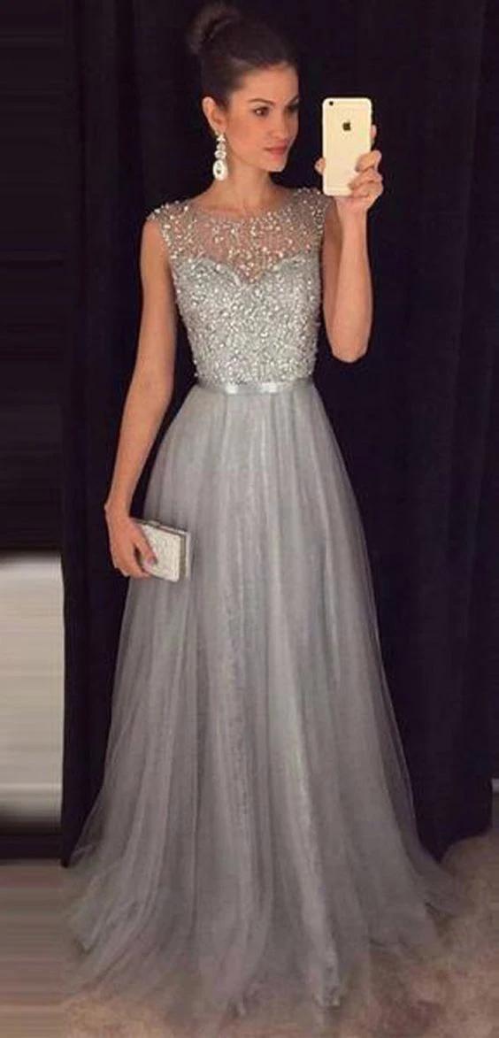 Silver Grey Prom Dress 2020 Evening Dress Winter Formal Dress Pagea Promcoming In 2020 Grey Prom Dress Prom Dresses For Teens Long Junior Prom Dresses