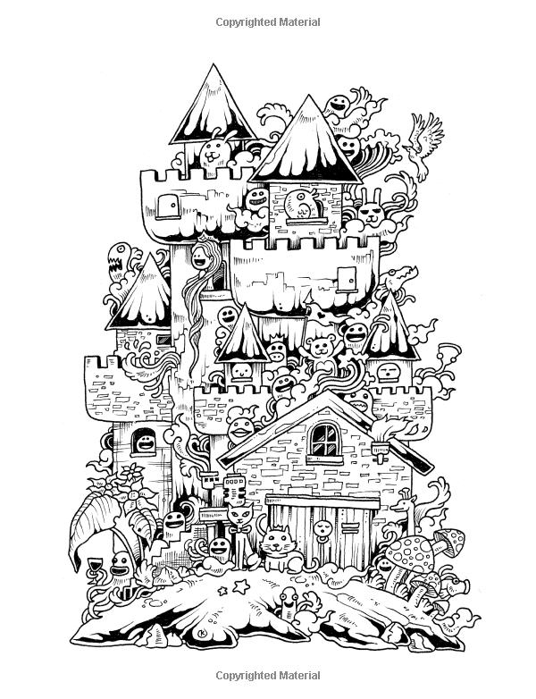 Amazon.com: Doodle Invasion: Zifflin's Coloring Book