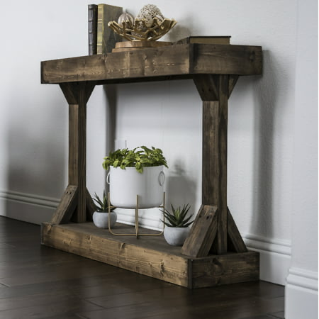 Home Small Console Tables Farmhouse Console Table Wood Console Table