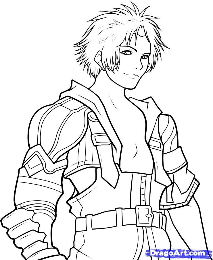 Final Fantasy Coloriage Coloring Pages Colouring Pages Fantasy
