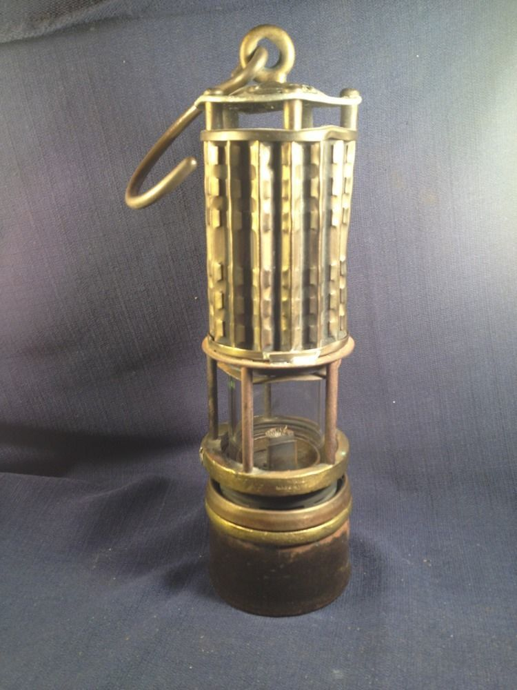 Details About Antique Ca 1893 Wolf S Miners Safety Lamp Germany
