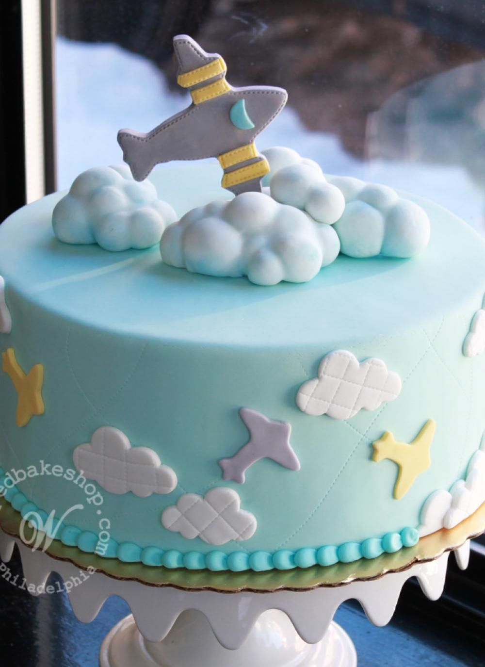 In the Clouds Airplane Cake Whipped Bakeshop Decoracin tortas