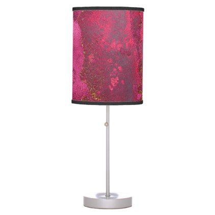 Rose Gold Desk Lamp Unique Pink And Blush Rose Gold Ink Gemstone Marble Pink Desk Lamp  Pink Inspiration Design